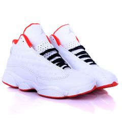 Jord White Dotted Skin With Red  Designed Classic Retro sneakers