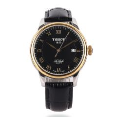 Tissot Lelode Swiss Made Black Leather Watch