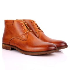 Renato Dulbecc Brown High Ankle  Lace Up Formal Shoe