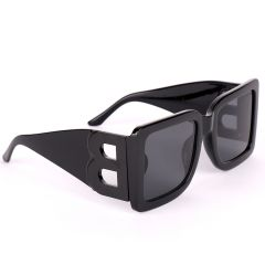 Burberry Square Frame All Black Designed Sunglasses