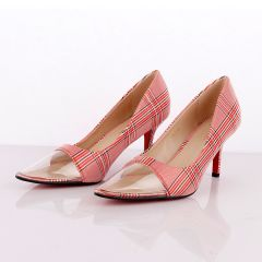 Atmosphere Women's Red Check Spring Soft Comfortable High Heel Shoe