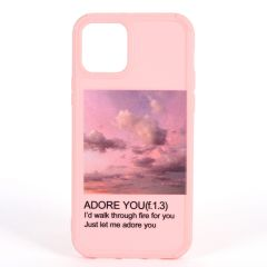 Adore You 1.0 Quote Printed Customized iPhone Case-Pink