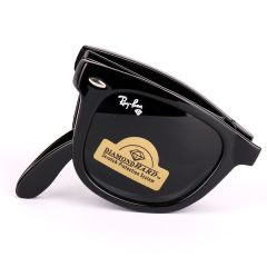 Ray-Ban 4105 Foldable Wayfarer All Black Sunglasses