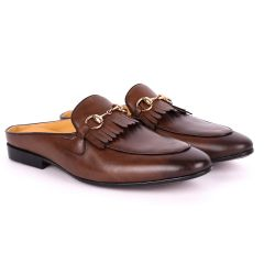 Terry Taylors Lashes Brown Leather Half Shoe