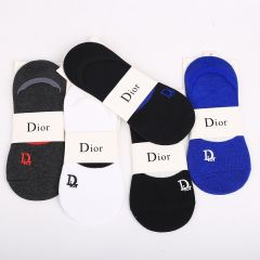 Dio 5 In 1 Cotton Ankle Black, Blue, Grey And  White