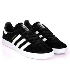 AD Originals BroomField Black Suede Sneakers With 3 White Stripes