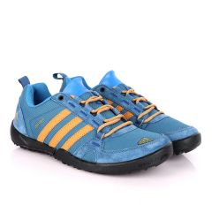 Adidas Daroga Trendy Blue And Brown Sneakers