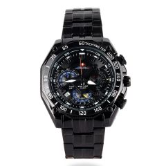 Casio Edifice Black Stainless Steel Chronograph Men Watch