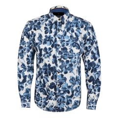 Bajieli Floral Sky Blue Long Sleeve Shirt