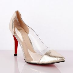 Atmosphere Classic Champagne Gold  Women's High Heel Shoe