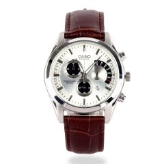 Casio Edifice Women's Brown Leather Strap Chronograph Watch