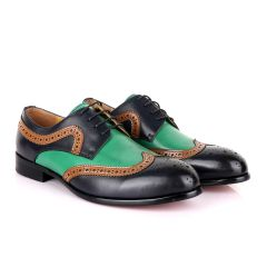 John Mendson Blue Green With Brown Oxford Shoe