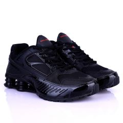 NK Flyknit Black Exquisite Designed Lace up Sneakers