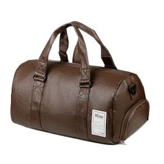 Wohlbege Fashion Large Capacity Leather Travel Bag- Brown