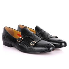 John Foster Double Monk Croc Designed  Men's shoes