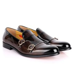John Mendson Double Monk Strap Wetlooks Grey Shoe