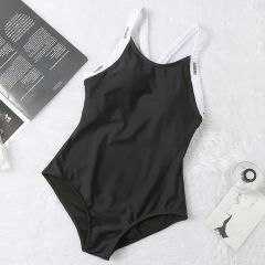 Burberry Black And White Body Suited Bikini