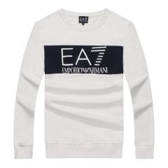 Armani Jeans Block Logo Men's Sweatshirt -White