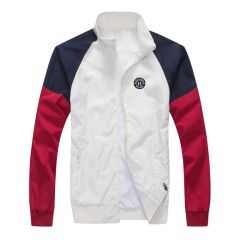 Tommy Hilfiger Men's White Essential Graphic Logo Jacket