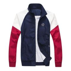 Tommy Hilfiger Men's Navy Blue Essential Graphic Logo Jacket