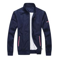 Tommy  Hilfiger Plain Flag Logo Navy-blue Jacket tracksuit