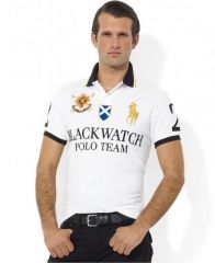 PRL Black Watch 1996 White Lauren Shorts Polo