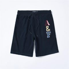 Abercrombie And Fitch Logo Embroidery Elasticated Shorts-Navy Blue
