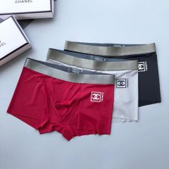 Chan Logo Designed Comfortable 3 In 1 Body-Suited Briefs