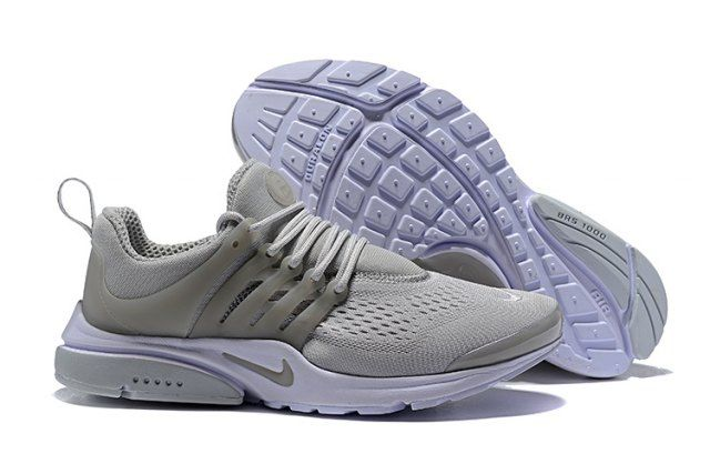 Presto Wolf Grey White Unisex Running Shoes Sneakers