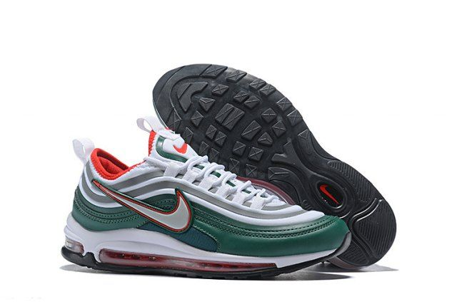 Ultra 17 Green Silver Red White Men's Running Shoes