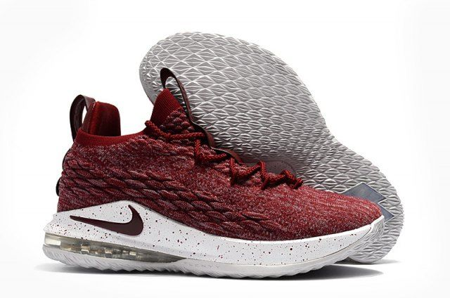 LeBron 15 Low EP Taupe Grey Team Red Men's Basketball Shoes