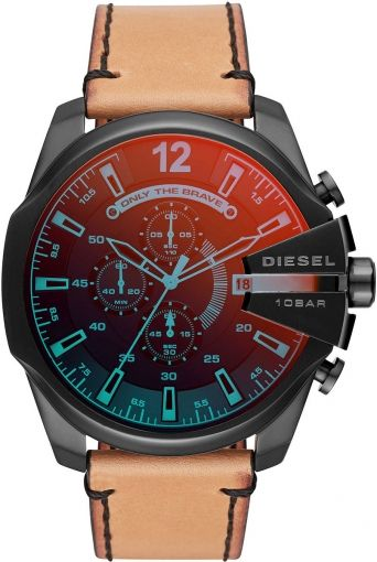 Diesel Mega Chief DZ4476 Brown Leather Men's Watch