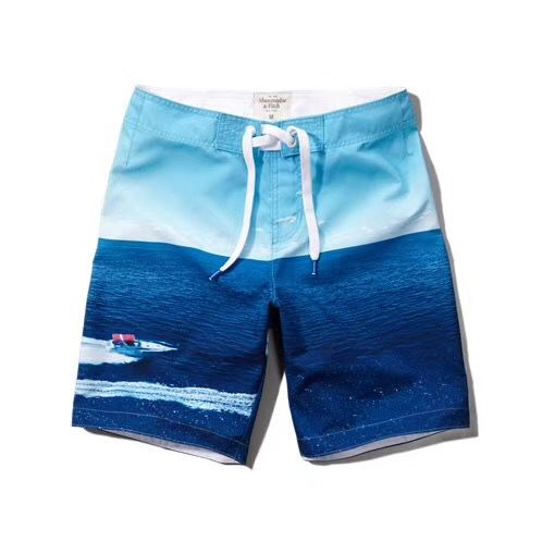 A&F beach swim shorts replica skyblue