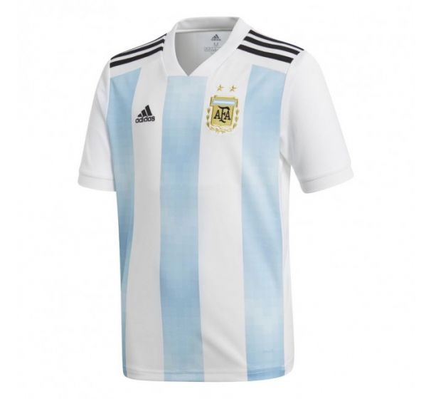 Argentina 2018 Home Jersey -White and Skyblue