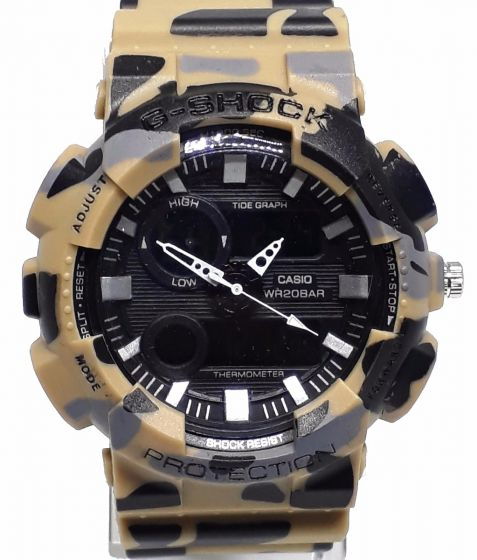 CASIO G SHOCK BROWN CAMO BLACK DIAL THERMO