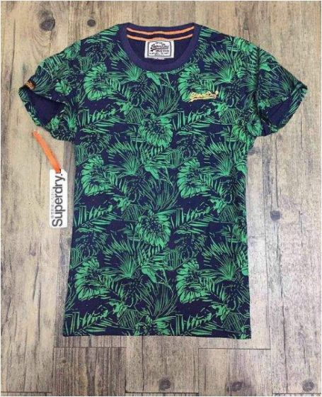 Superdry Lillie Palm Orchid Print T-shirt-Green