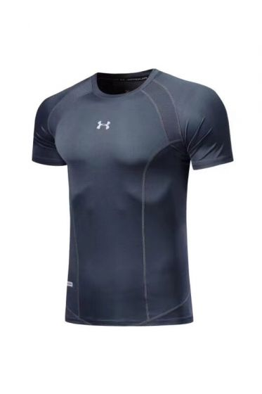 Under Armour Fitted Round Neck Grey T-Shirt