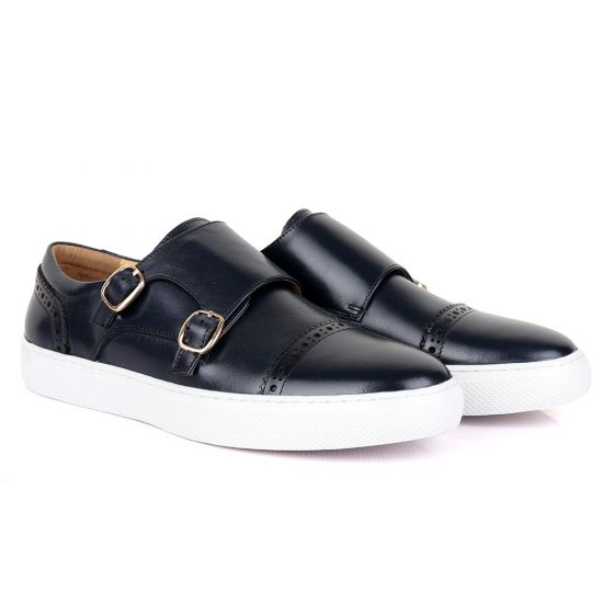 Terry Taylors Double Strap Blue Leather Sneaker Shoe