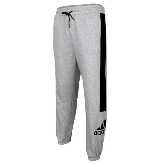 Adidas Breathable Running Pants with Side Pockets-Ash
