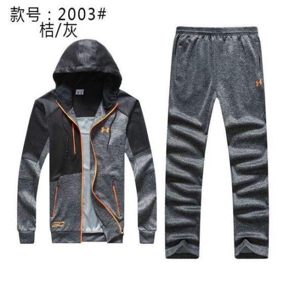Under Armour Tracksuits Hoodies  Jacket Sports Suits Black Grey