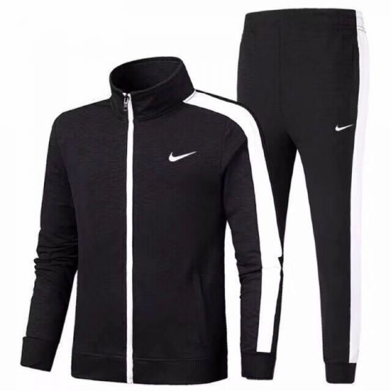Nike Men's Originals Black and White Tracksuit