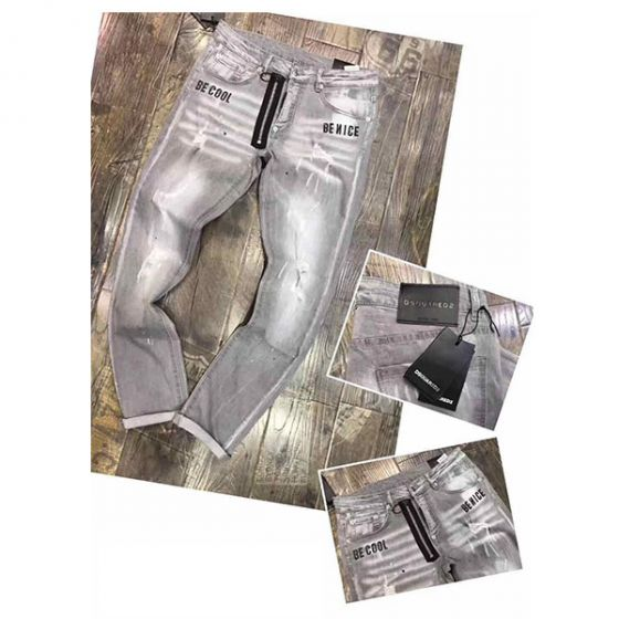 Dsquared2 Be Cool Be Nice Straight Cut Grey Jeans