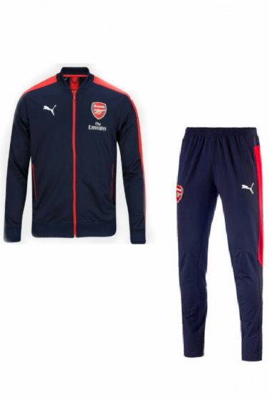 Arsenal Navy Red Tracksuit Training 2018/19