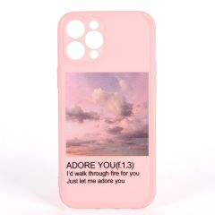 Adore You 1.0 Quote Graphics Designed iPhone Case-Pink
