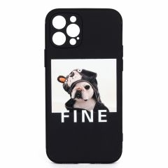 Fawn Pup Dog Designed iPhone Case- Black
