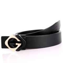 GC Classic Black Leather Men's Belt