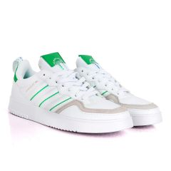 AD SuperCourt White Fashionable Sneakers With Green Classic Designs