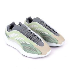 Adidas 700 Yeezy Boost Light Green Pattern Design White Sneakers