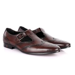 Thom Browne Simplified coffee Leather Shoe