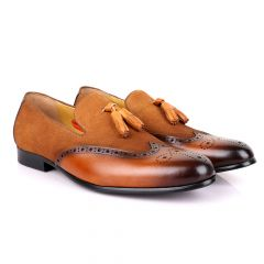 John Mendson Suede And Brown Leather Shoe